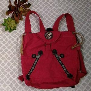 Kipling backpack red color